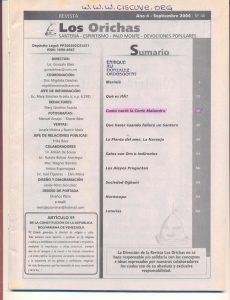 040-I-Revista Los Orichas
