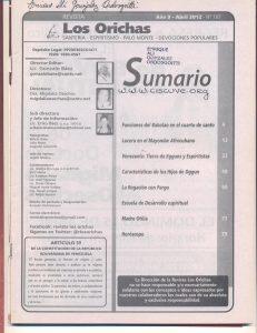 107-I-Revista Los Orichas