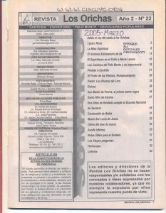 022-I-Revista Los Orichas