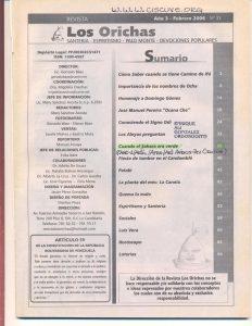 033-I-Revista Los Orichas