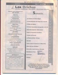 034-I-Revista Los Orichas