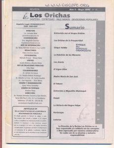 036-I-Revista Los Orichas