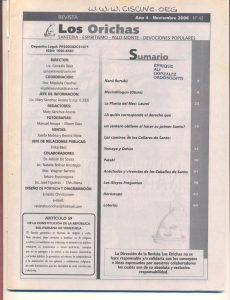 042-I-Revista Los Orichas