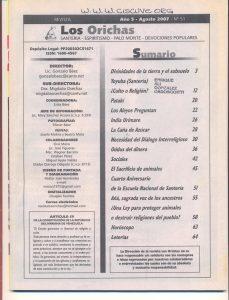 051-I-Revista Los Orichas