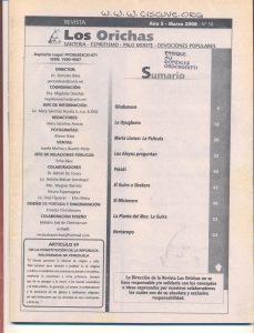 058-I-Revista Los Orichas