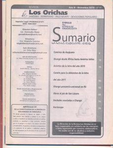 091-I-Revista Los Orichas