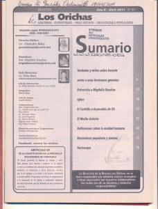 095-I-Revista Los Orichas